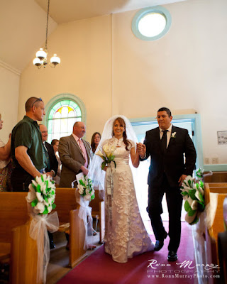 colors of green and white For more see wedding aisle pew decorations