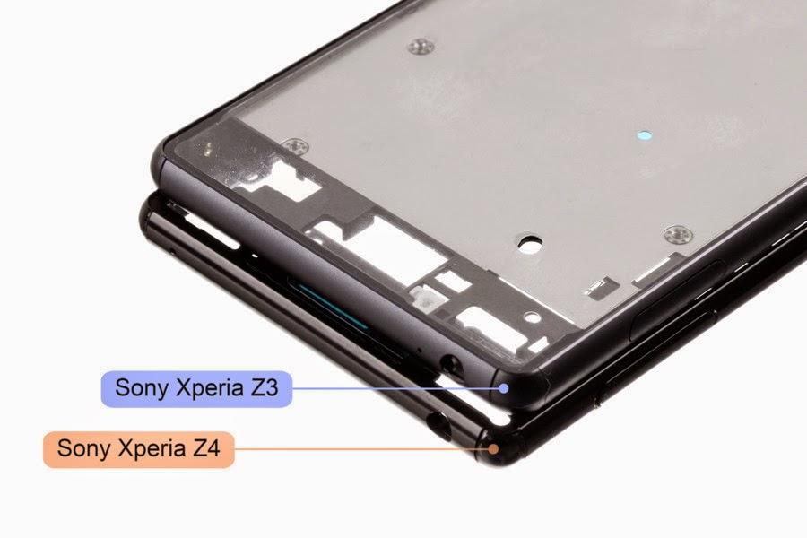 Inilah sasis dan LCD tuchscreen Sony Xperia Z4, lebih tipis dan tidak anti air