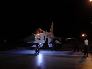 Indian Light Combat Aircraft. LCA Tejas. Night Flying Tests