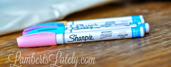 Very simple outdoor craft made with Sharpie Paint Markers