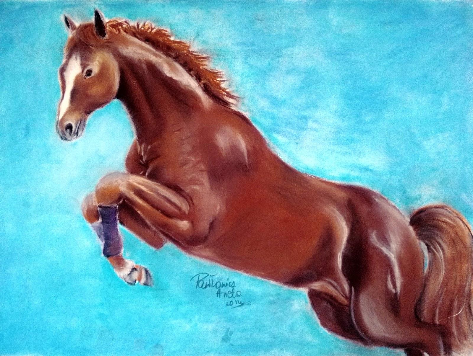 rysunek koń