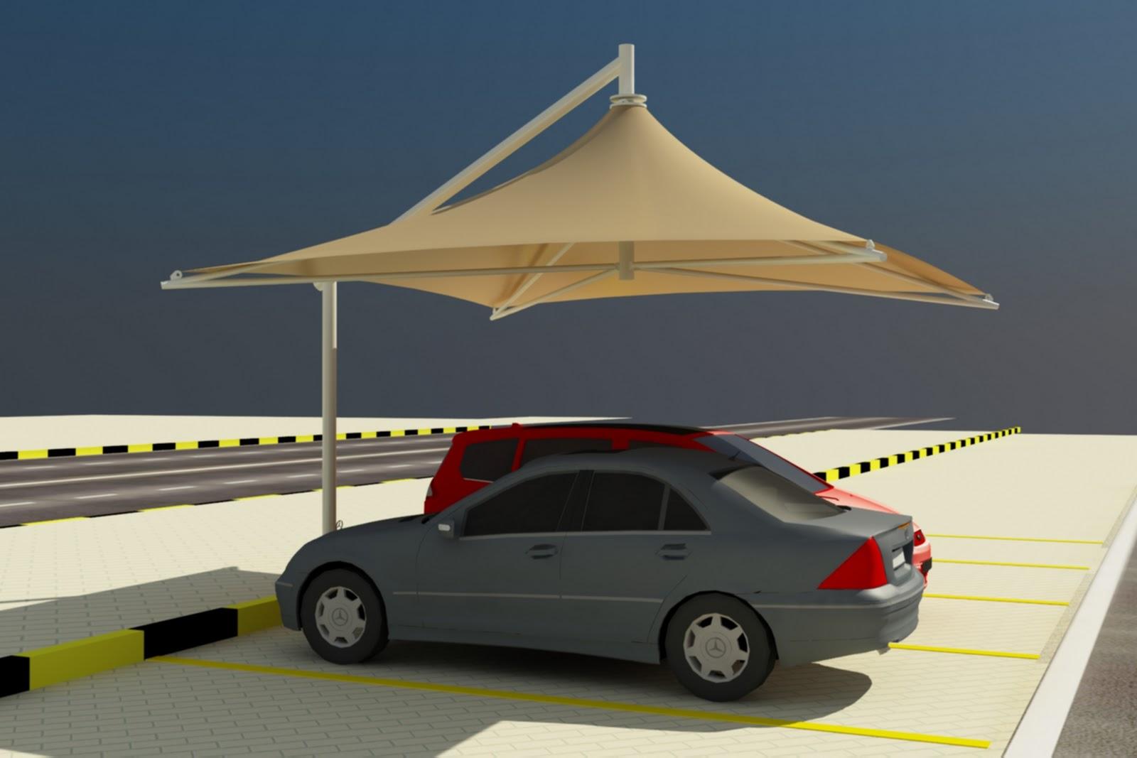 Single Pole Car Parking Shade