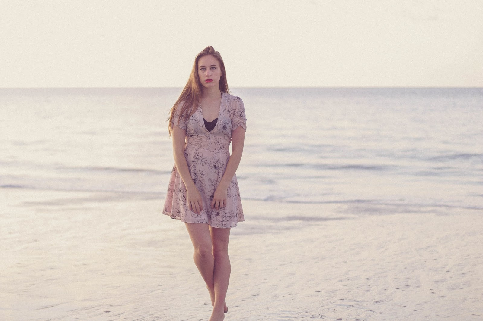 vintage, beach outfit, romantic outfit, retro, style, vintage beach style, high wasted bathing suit, chiffon floral dress , forever 21, the awakening, kate chopin, personal style blogger, movie blogger, film, summer style, taylor swift style, girly, beach photography, outfit