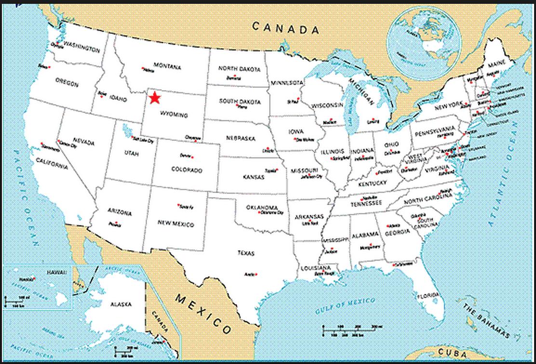 Yellowstone Usa Map My blog