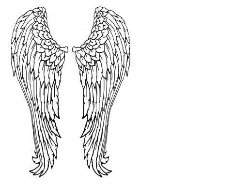 Plantillas para imprimir: Plantillas de dibujos alas de angel 05