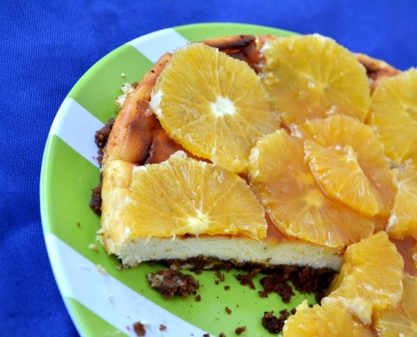 chesse cake alla ricotta e arance