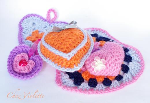 DIY crochet heart valentine day chez violette