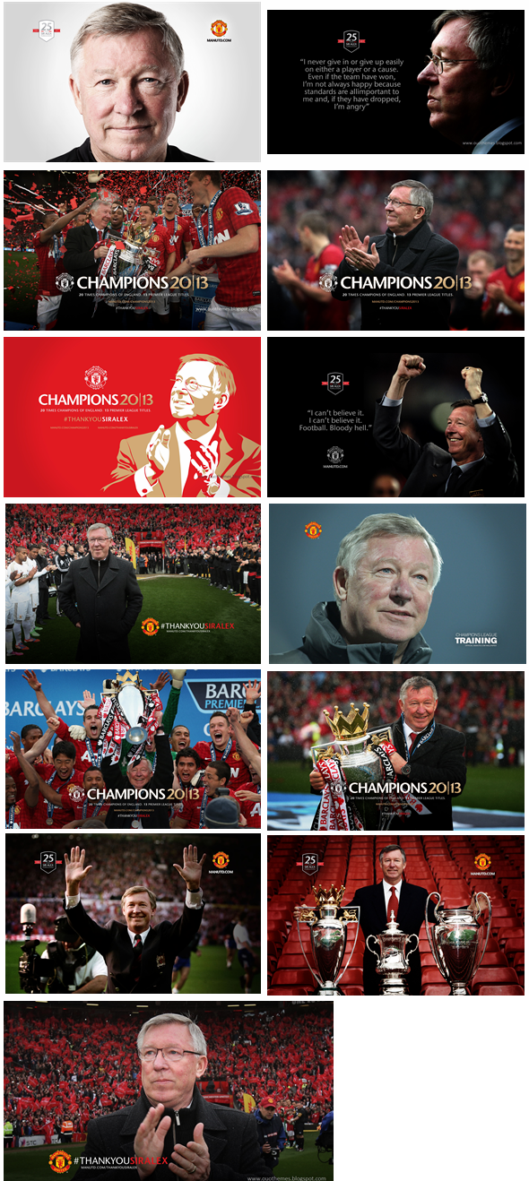 Sir Alex Ferguson Theme For Windows 7 And 8