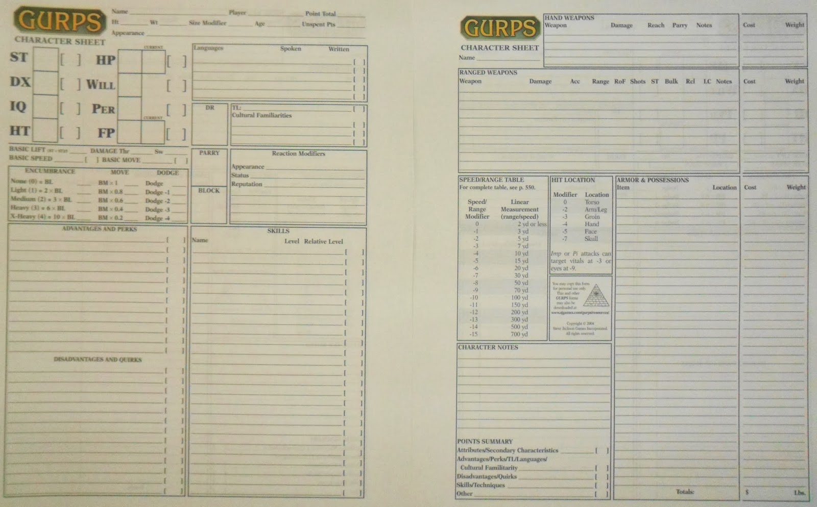 gurps 3rd edition character sheet