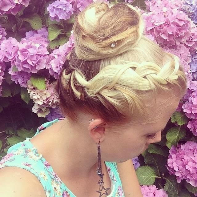 French lace braided crown into bun