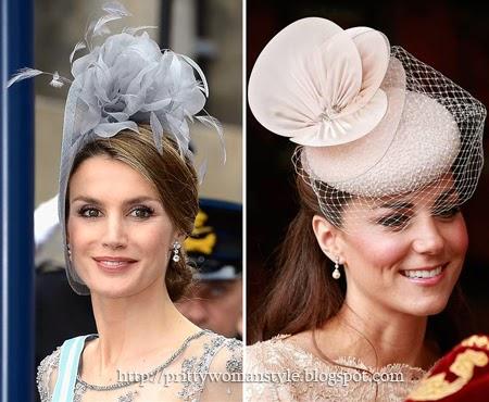 Принцесите Летисия и Кейт с красиви шапки