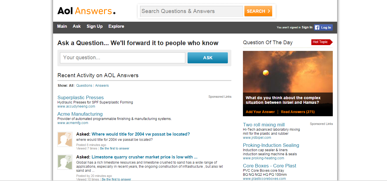 AolAnswers similar website