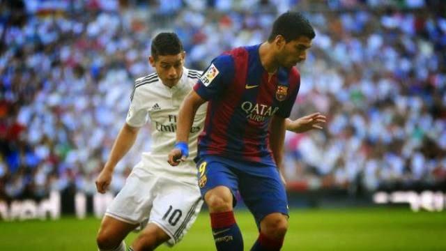 اول ظهور لسواريز مع برشلونة في الكلاسيكو