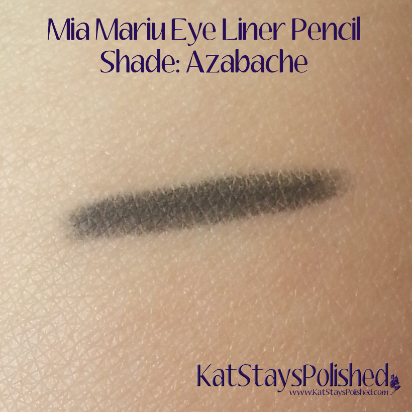 Mia Mariu Eye Liner Pencil - Azabache | Kat Stays Polished