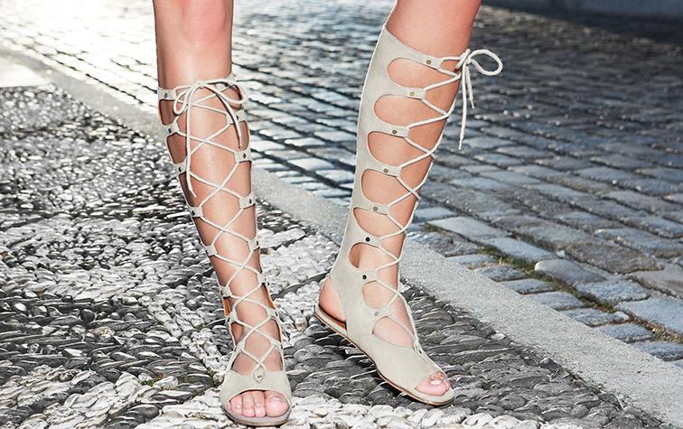 Chloé spring summer 2105 high top gladiator sandals