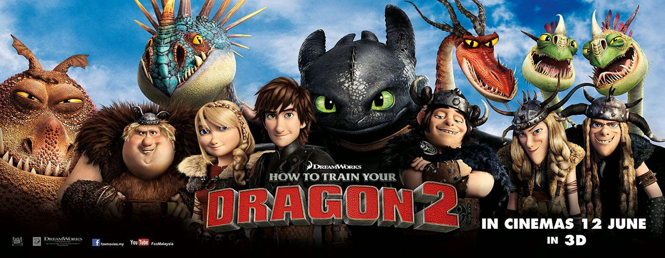 How+To+Train+your+Drgaon+2+New+banner Como Entrenar a tu Dragon 2 [2014] [DvdRip] [Latino]