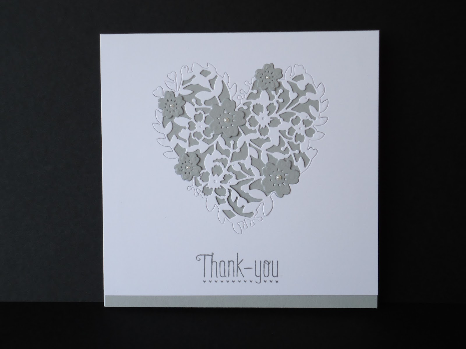Eve Marie Makes: Stampin\' Up! Bloomin\' Heart Thinlits Die - CAS Card