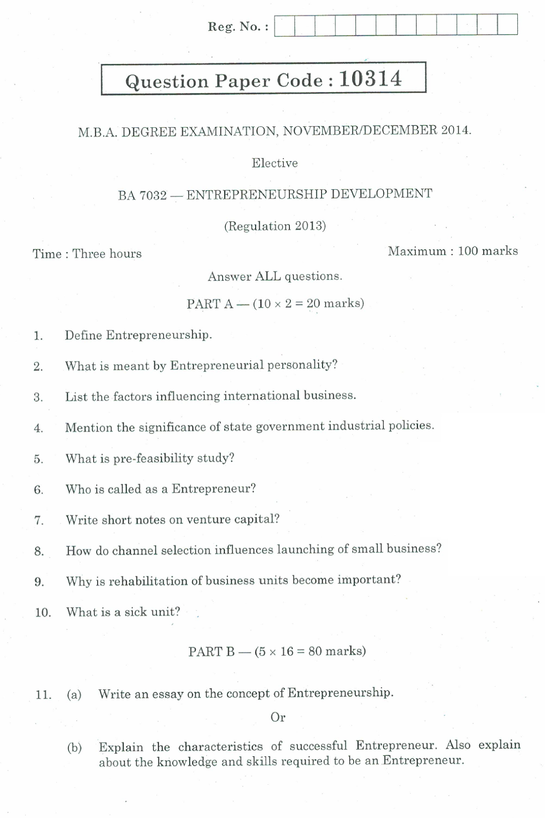 essay questions about entrepreneurship Entrepreneurship final exam questions and answers entrepreneurship final exam questions and  solutions essay topics computer science illuminated 5th edition answer.