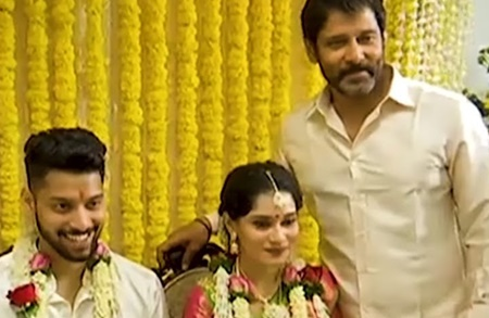 Vikram's Daughter's Wedding Infront of Kalaignar Karunanidhi Special Coverage