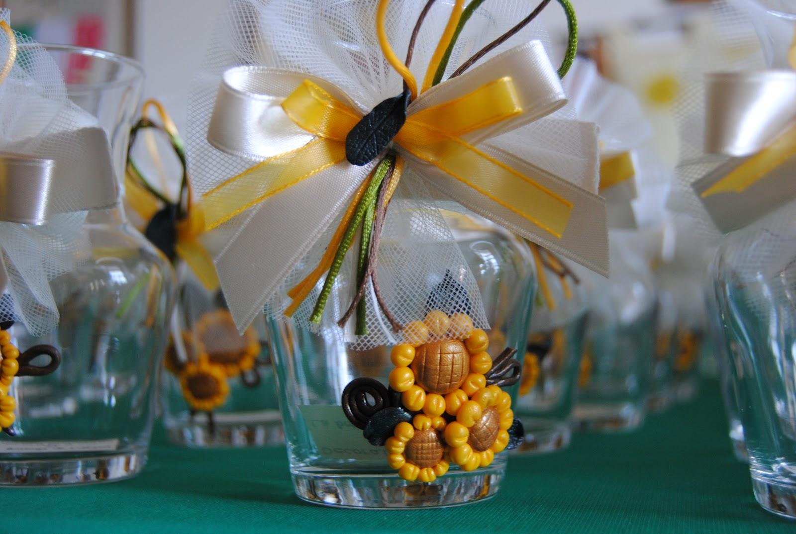 Idee Matrimonio Girasoli : La bottega di lilliput bomboniere girasoli