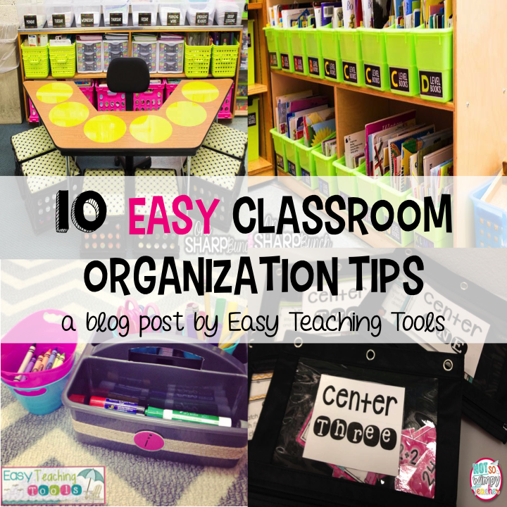 Easy Classroom Organization is important for so