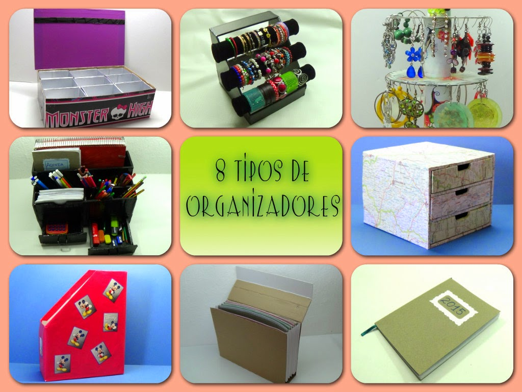 Ecobrisa diy 8 organizadores con material reciclado - Organizadores escritorio ...