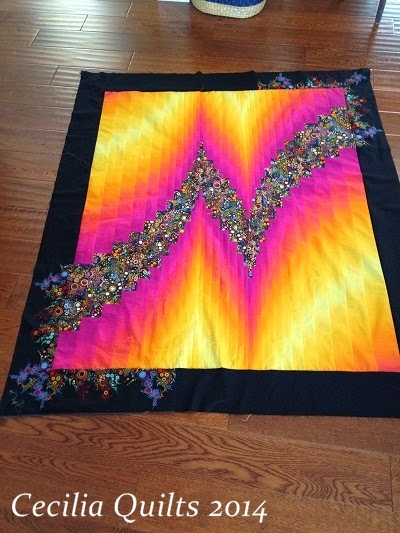 Quilt Patterns With Two Fabrics : On the Frame with CeciliaQuilts: 2 Fabric Bargello