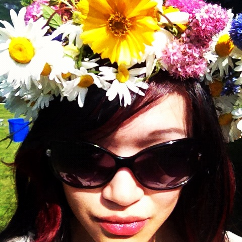 corona, floral crown, flowers, wreath, floral decoration, valentino sunglasses