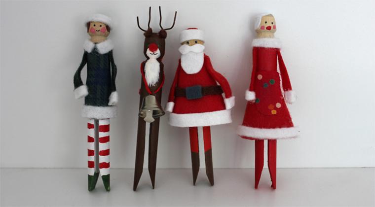 Mima Moo Christmas Peg Dolls