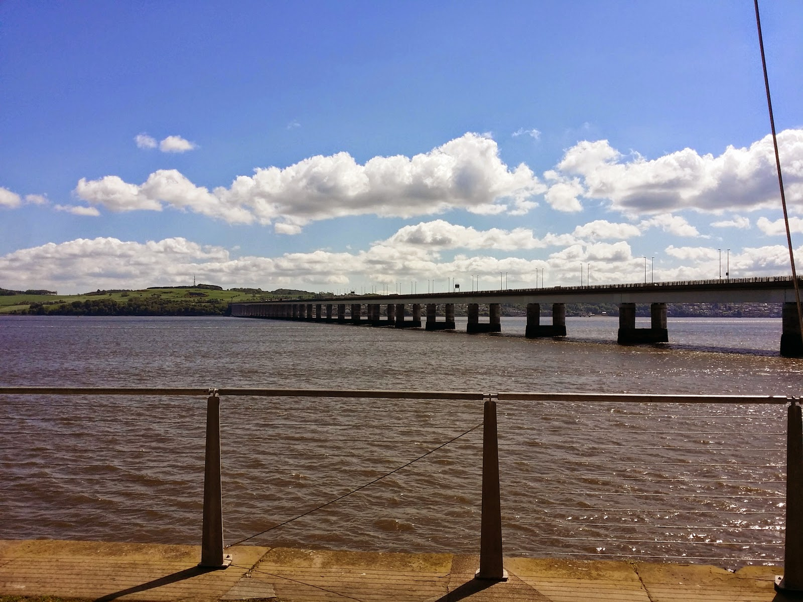 looking over the Tay ro the Tay bridge