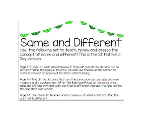 Concept of same and different