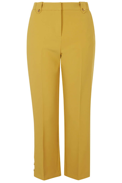 topshop yellow trousers, mustard trousers cropped,