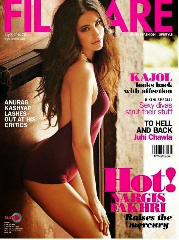 Nargis Fakhri in Beachwåear for Filmfare Magazine July 2014