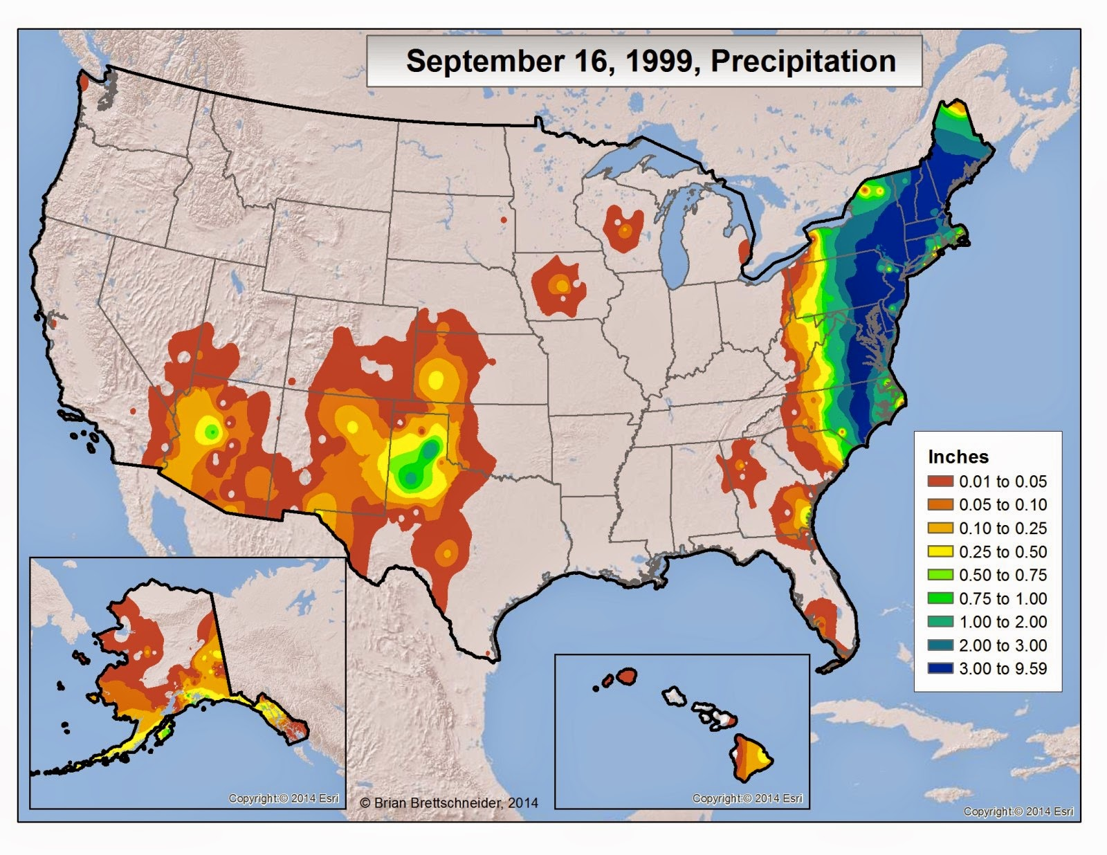 Figure 2 Shows The Surface Weather Chart For September 16 1999 From The Noaa Map Library