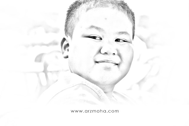 izzat, kids, pencil drawing,