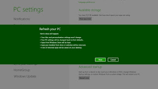 Cara Refresh Windows 8 Tanpa Menghapus File