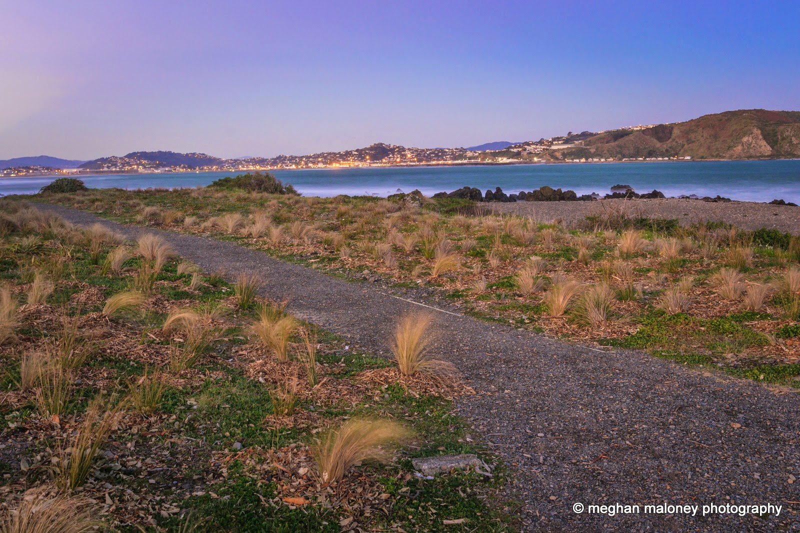 Lyall Bay Wellington at dusk