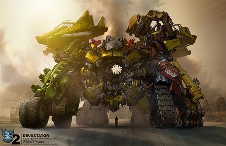 devastator transformers 2 how to draw