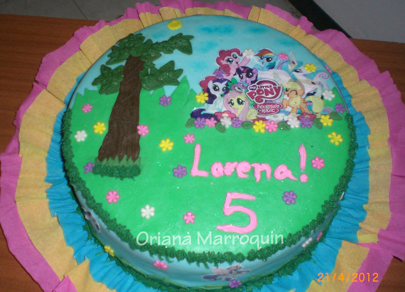 "Oriana Marroquin Repostería Fina: Torta ""My Little Pony"""