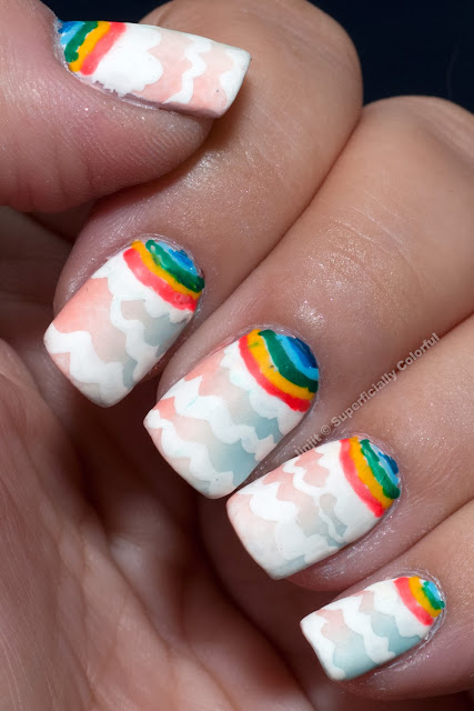 Gradient with Pattern Nail Art Matte