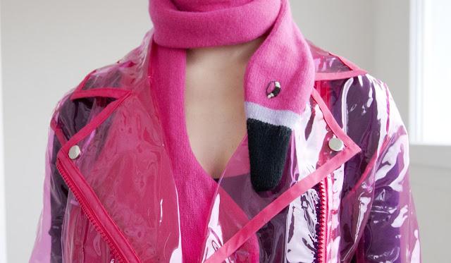 plastic jacket, donna wilson, flamingo