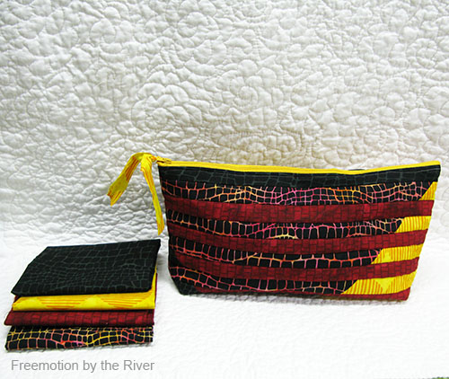 Black Opal Pouch done in Interleave pattern