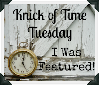 Knick of Time Tuesday Vintage Style Link Party at KnickofTimeInteriors.blogspot.com