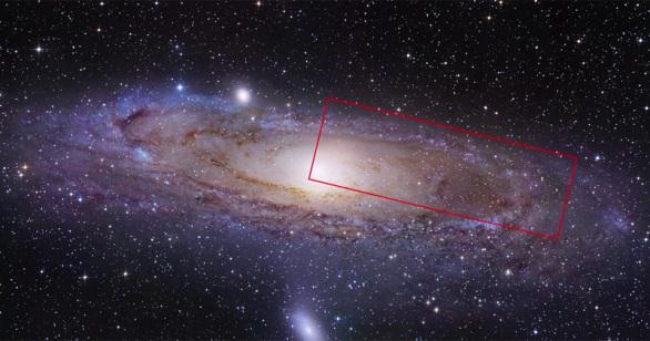 Realizando una profunda ampliación dentro de la galaxia Andrómeda