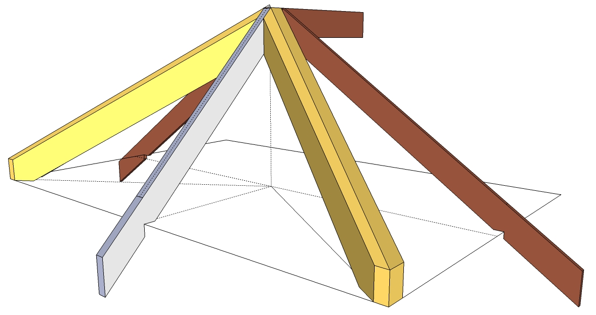 Roof Framing Geometry: Roof Planes with Unequal Pitched Roofs