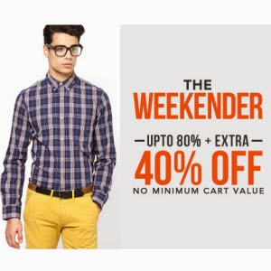 Jabong Clothing, Footwears, Beauty, Bags & Accessories up to 84% + 40% off no min purchase from Rs.53