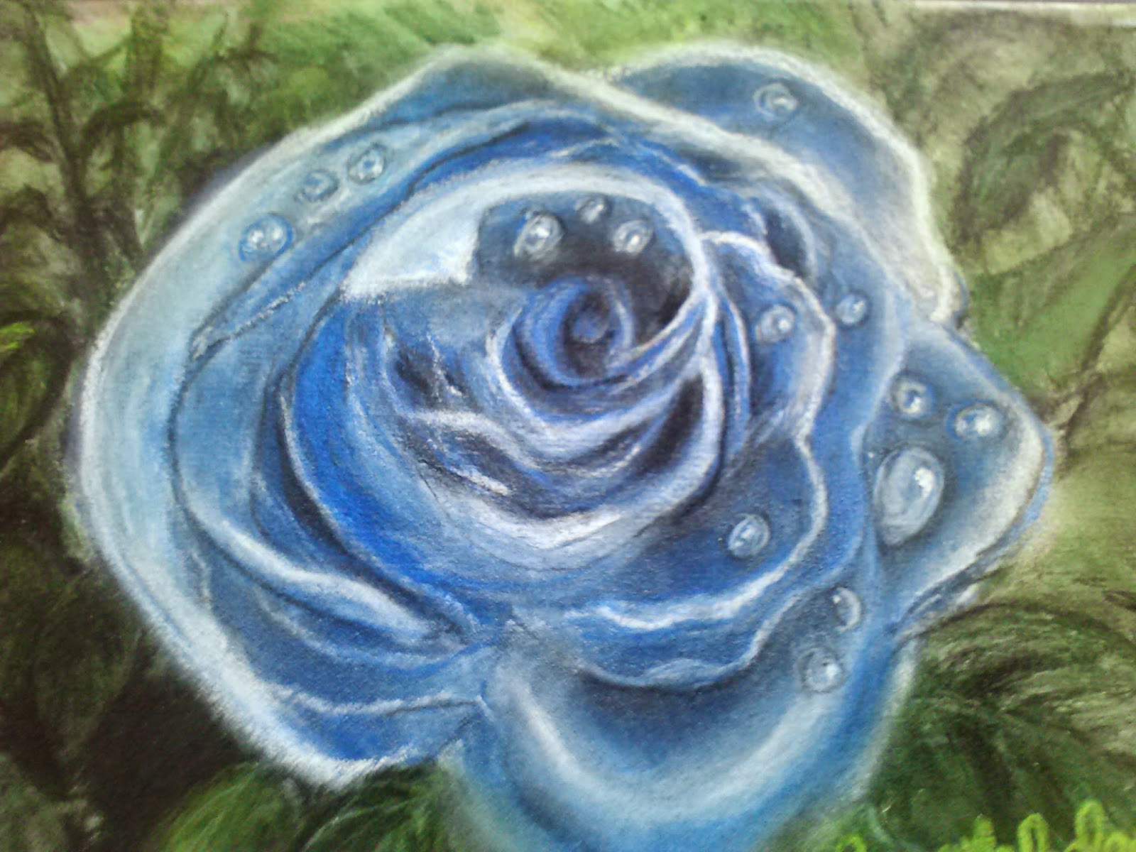 Angela Boley Psychic Artist Blue Rose With Tears