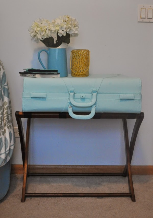 suitcase endtable