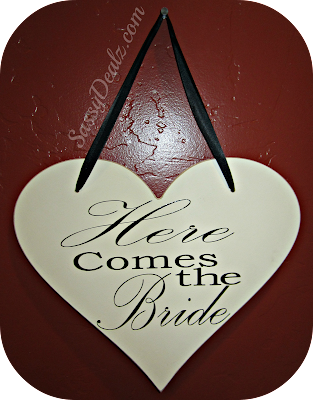 here comes the bride sign for ring bearer heart shape