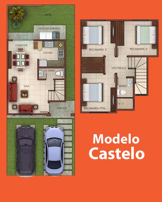 Casas en venta y departamentos casa muestra modelo for Modelo de casa 7 x 10